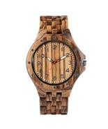 Men's Leisure Wood Watch, Handmade Vintage Analog Quartz Wood Wrist Watc... - $55.99