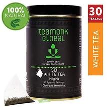 Teamonk Sei Nilgiri White Tea Bags - 30 Teabags | Powerful Antioxidant Tea | Tea - $19.99