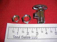 "Chrome Angle Shut Off Valve 1/2"" Compression x 1/2"" MIP 4197067"