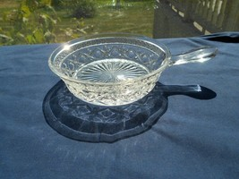 """Imperial Glass Cape Cod Crystal Clear Spider Dish  Handle 5 3/4""""  Candy Nut - $10.99"""
