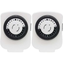 GE 15417 24-Hour Polarized Plug-in Mechanical Timer with 48 On/off & 1 O... - $32.37