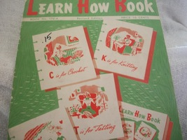 Learn How Book for Crafts - $5.00