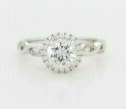 Hearts on Fire CZ Engagement Ring w/Dia's. 18K White Gold $2,850 Retail ... - $1,722.60