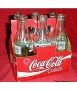 Vintage Coca Cola Classic 6 pack of 8 oz bottles in Carton  - $24.33