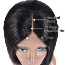 Simei Short Bob Wigs Human Hair Lace Front Wigs For Black Women Brazilian Virgin image 5