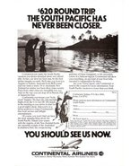 1979 Continental Airlines South Pacific holiday print ad - $10.00