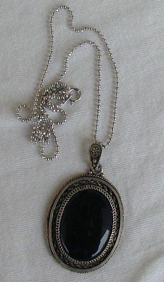 Antique onyx pendant