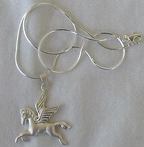 Pegasus pendant with a chain