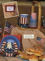 Plastic Canvas Patriotic July 4th Plate Cup Holder Flag Placemat Coaster... - $8.99