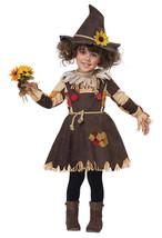 California Costume Pumpkin Patch Scarecrow Toddler Girls Halloween Costu... - $30.99