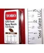 Toro Irrigation Series 570 Nozzle 1/3 circle 12 ft radius - $4.22