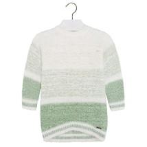 Mayoral Little Girls 2T-9 Colorblock Stripe Soft Fuzzy Knit Sweater Dress