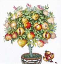 Cross Stitch Kit Hand Embroidery Flowers Pomegranate Tree Still Life - $34.98
