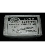 """1000 Acoustical Screw Eye Lags 1/4 x 3"""" Scorpion Plated Zinc Yellow Dich... - $94.05"""