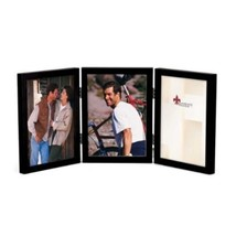 5x7 Hinged Triple Black Wood Picture Frame Gallery Collection - $36.57