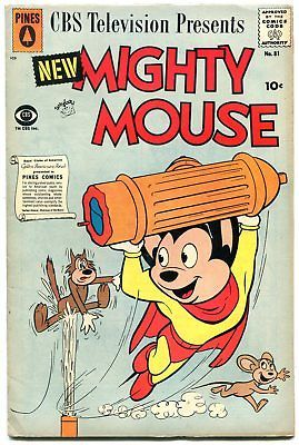 MIGHTY MOUSE #81 1959-PINES COMICS --- HECKLE & JECKLE VG