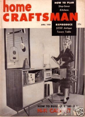 HOME CRAFTSMAN *** 1958 Apr Vintage Magazine