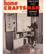 HOME CRAFTSMAN *** 1958 Apr Vintage Magazine - $5.00