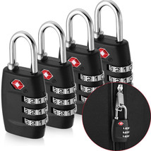 Outdoor&Sport Travel equipment 4x TSA Approved Luggage Lock Travel 3 Dig... - £12.78 GBP