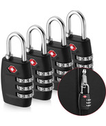 Outdoor&Sport Travel equipment 4x TSA Approved Luggage Lock Travel 3 Dig... - £12.75 GBP