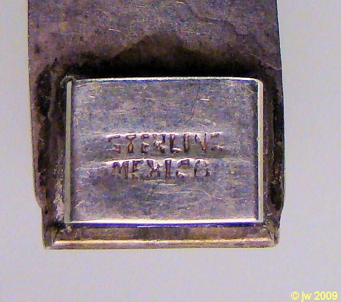 Vintage Mexican Sterling Black Stones Bracelet   Pre1948