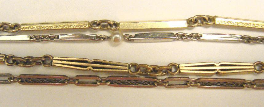LOT - ART DECO VEST CHAINS