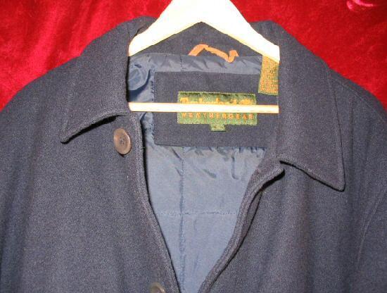 Timberland WeatherGear Wool Pea Coat Jacket L DryCleaned