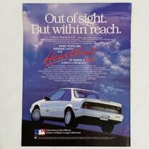 Vintage 1991 Chevrolet Chevy Beretta GT Print Ad MLB Heartbeat Of America - $8.52