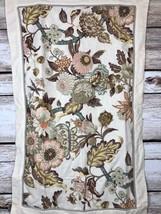 Waverly Pillow Sham 39 x 25 Tan Brown Coral Teal Floral 100% Cotton - $363,46 MXN