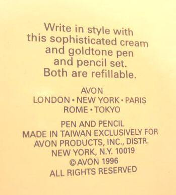 Avon Far Away True Elegance Pen and Pencil Set