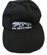 PAI Industries Black Baseball Trucker Hat Cloth Back Strapback - see desc. - $5.99