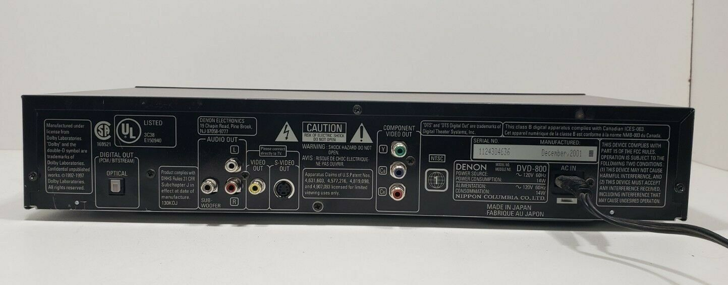 Denon DVD Video Player DVD-800 With Remote Fully Tested image 6