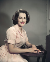 Susan Kohner 1950'S Smiling Studio Pose Seated In Chair 16X20 Canvas Giclee - $69.99