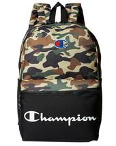 Champion Men's Manuscript Canvas School Backpack Shoulder Zipper Book Bag image 2