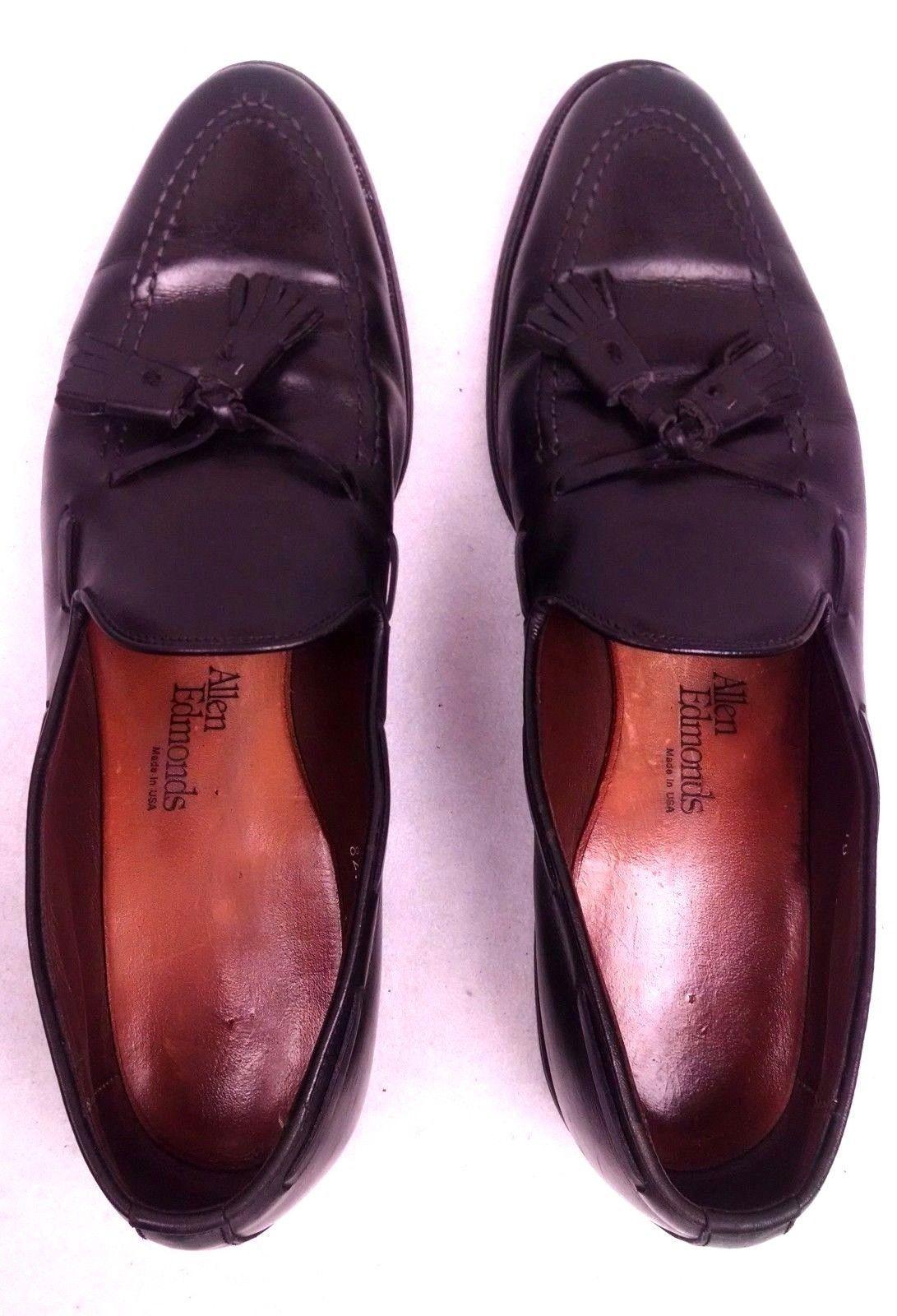 8f537e683a3 Allen Edmonds Grayson 8217 Dress Loafers Size 10 AA Black Custom Calf  Tassels