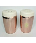 Vintage West Bend Salt and Pepper Shakers 1950'S-60'S Aluminum White Lid G4 - $14.84