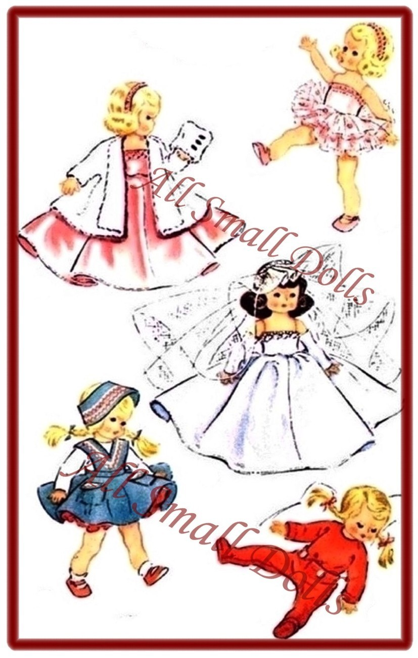 "Primary image for Vintage Doll Clothing Pattern for 8"" Dolls ~ No. 3"