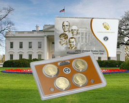 2015 S U.S. Mint President 4 coin Proof set with original mint packaging and COA