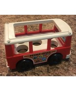 FISHER PRICE 1969 MINI BUS #141 Little People Retro Red Camper Van #2 Vtg - $11.83