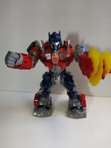 Optimus Prime Light Up Action Figure w/Saw Blade Talks Transformer Hasbr... - $17.82