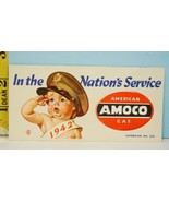 1942 AMOCO American Gas In The Nations Service Blotter Baby in Army Air ... - $24.75