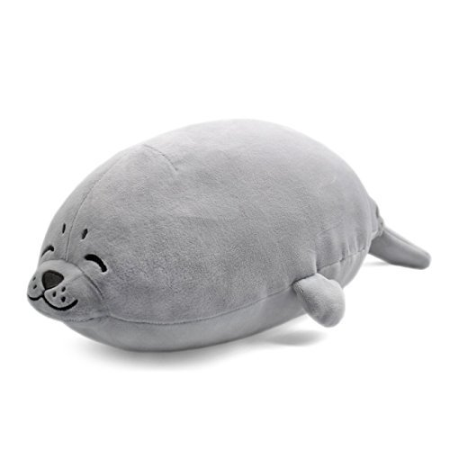 Primary image for sunyou Plush Cute Seal Pillow - Stuffed Cotton Soft Animal Toy Grey 16.5 inch/45