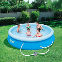"Bestway Fast Set 12' x 30"" Swimming Pool Set with Filter Pump image 4"