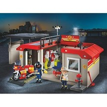 PLAYMOBIL Take Along Fire Station Kids Toys for Boys Girls Christmas Gif... - $39.71