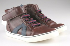 0Cat & Jack Bébé Garçons' Marron Ed Baskets Mi Haut Chaussures 12 US Nwt image 1