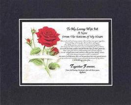 Personalized Touching and Heartfelt Poem for Loving Partners - A Note From the B - $22.72