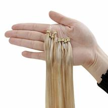 Hetto Micro Ring Pre Bonded Human Hair Extensions Blonde #16 Mix With #22 Blonde image 4