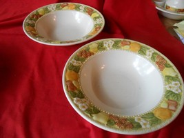 Outstanding VERNON WARE by Metlox DELLA ROBBIA Handpainted Two BOWLS - $11.49