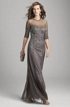 Adrianna Papell Beaded Illusion Lead Gown  Sz 10- leads - $144.00