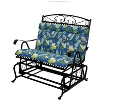 Outdoor Double Glider Cushion All Weather Bench Swing Loveseat Chair Cushion  image 3